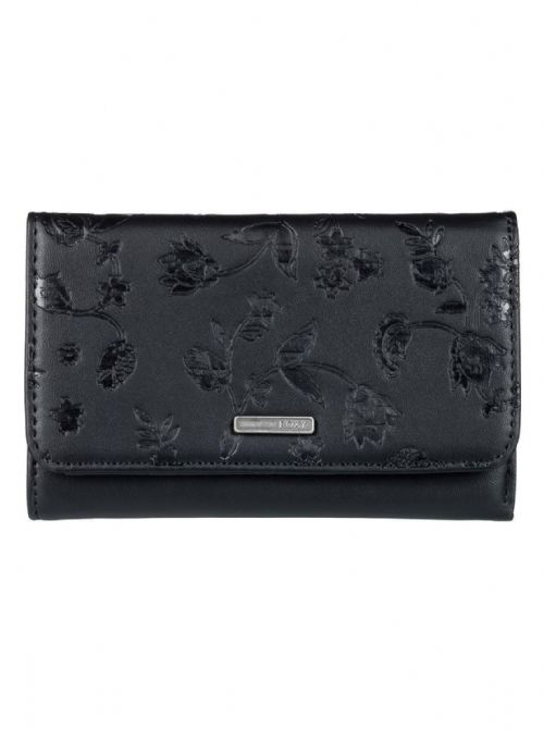 ROXY WOMENS PURSE.NEW JUNO FAUX LEATHER BLACK CREDIT CARD COIN WALLET 8S 90 KVJO